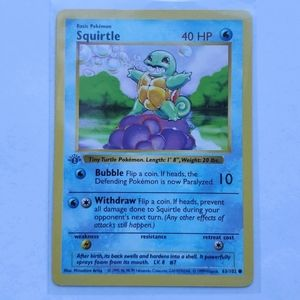 1st Edition Shadowless NM Squirtle 63/102